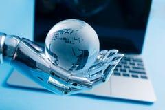 Kunstmatige intelligentie Globaal Concept royalty-vrije stock afbeeldingen