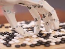 Kunstmatige intelligentie het Spelen gaat stock foto