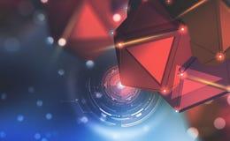 Kunstmatige intelligentie Observatie, gegevensverzameling en bescherming Groot gegevensconcept royalty-vrije illustratie