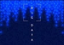 Kunstmatige intelligentieachtergrond Technologie voor grote gegevens, vis stock illustratie