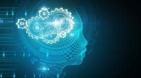 Kunstmatige intelligentiebehang Royalty-vrije Stock Afbeelding