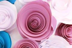 Kunstmatige kleurrijk nam toe die met de hand gemaakt is Stock Foto