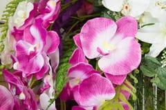 Kunstmatige orchideebloem Stock Afbeeldingen