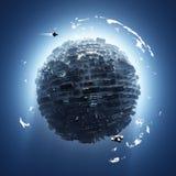 Kunstmatige planeet royalty-vrije stock afbeelding