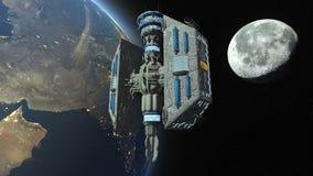Kunstmatige satelliet royalty-vrije illustratie