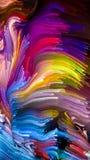 Kunstmatige Vloeibare Kleur Royalty-vrije Stock Fotografie