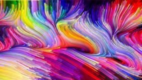 Kunstmatige Vloeibare Kleur royalty-vrije illustratie