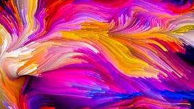 Kunstmatige Vloeibare Kleur Royalty-vrije Stock Foto