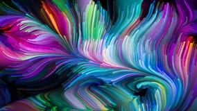 Kunstmatige Vloeibare Kleur vector illustratie