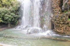 Kunstmatige waterval in Nice C'ote D'azur Royalty-vrije Stock Foto