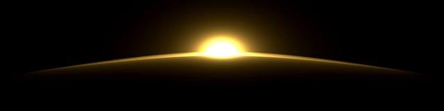 Kunstmatige zonsopgang Royalty-vrije Stock Foto