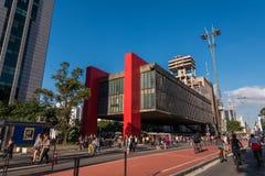 Kunstmuseum von Sao Paulo in Paulista-Allee lizenzfreies stockbild