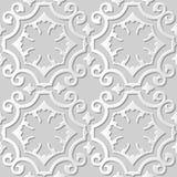 Kunstmusterhintergrund 006 des Papiers 3D des Vektordamastes nahtlose Kurven-gewundenes Kreuz Lizenzfreies Stockbild