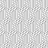 Kunstmusterhintergrund 368 des Papiers 3D des Vektordamastes nahtloses Dreieck-gewundene Linie Stockfoto