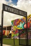Kunstmuurschilderingen bij creatieve Wynwood en kunstendistrict in Miami Royalty-vrije Stock Fotografie