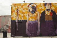 Kunstmuurschilderingen bij creatieve Wynwood en kunstendistrict in Miami Royalty-vrije Stock Foto's