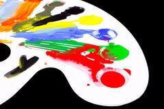 Kunstpalette mit Klecksen der Farbe stock abbildung