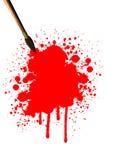 Kunstpinsel mit Blut stock abbildung