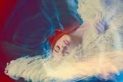 Kunstporträtzusammenfassungs-Farbhintergrund Lizenzfreies Stockfoto