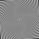 Kunstquadrat-Vektorhintergrund der optischen Täuschung Stockfoto