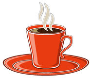 Kunstrot-Tasse Kaffee Lizenzfreies Stockbild