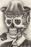 Kunstschädeltag der Toten Stockbild