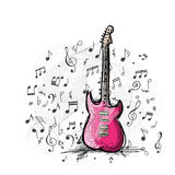 Kunstskizze des Gitarrendesigns Stockfoto