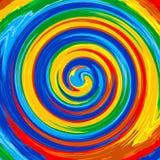 Kunststrudelregenbogenspritzenfarbfarben-Zusammenfassungshintergrund vektor abbildung