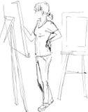 Kunststudenten vektor abbildung
