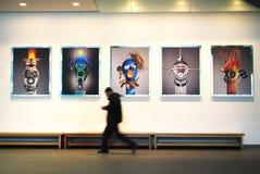 Kunsttentoonstelling Stock Foto's