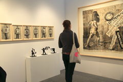 Kunsttentoonstelling in de Stad van New York Royalty-vrije Stock Foto
