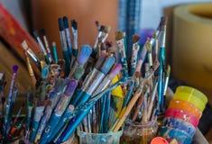 Kunstversorgungen für das Zeichnen Stockfotos