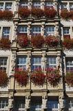 Kunstvolle historische Architektur in München im Bayern Stockfotografie