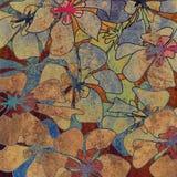 Kunstweinlese-Blumenhintergrund stock abbildung