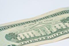 Kunstwerk auf amerikanischem Geld Lizenzfreie Stockfotografie