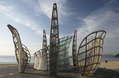 Kunstwerk bij strand Stock Afbeeldingen