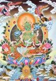 Kunstwerk in de cultuur van Tibet Stock Fotografie