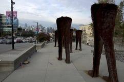 Kunstwerk in de Stad van Vancouver Stock Foto