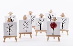 Kunstwerk die originaliteitsconcept tonen Stock Afbeelding