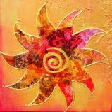 Kunstwerk met zon stock illustratie