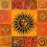 Kunstwerk met zon royalty-vrije stock afbeelding