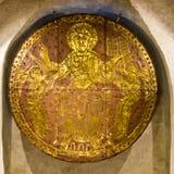 Kunstwerk op oude crypt Royalty-vrije Stock Afbeelding