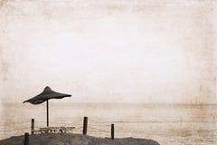 Kunstwerk in retro stijl, strand Royalty-vrije Stock Fotografie