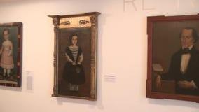 Kunstwerk, Schilderijen, Museumtentoongestelde voorwerpen stock video