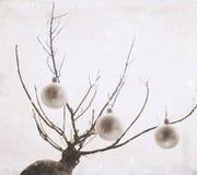 Kunstwerk in uitstekende stijl, Kerstmisdecoratie royalty-vrije stock afbeelding