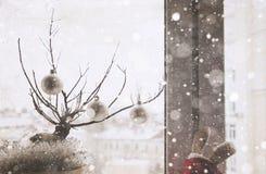 Kunstwerk in uitstekende stijl, Kerstmisdecoratie royalty-vrije stock foto