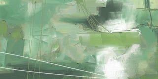 Kunstwerk van de olieverfschilderij het abstracte stijl op canvas vector illustratie