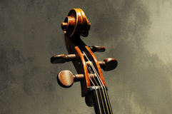 Kunstwerk van muzikale instrumentenviool Royalty-vrije Stock Afbeeldingen