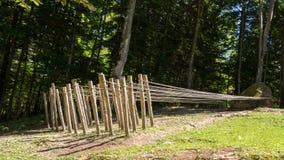 Kunstwerken in Arte Sella Park, Dolomiti, gefotografeerd Italië, 30 Juli 2017 Stock Afbeeldingen