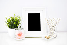 Kunstwerkmodel voor drukken Stock Foto's